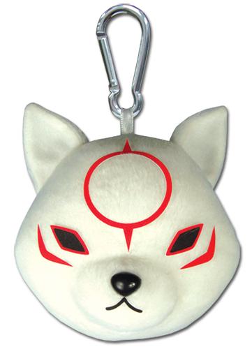 Okami Den - Chibiterasu Plush Keychain officially licensed Okamiden Key Chains product at B.A. Toys.