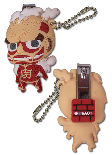 Attack On Titan - Titan Sd Pvc Nail Clipper Keychain, an officially licensed product in our Attack On Titan Key Chains department.