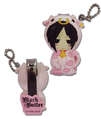 Black Butler - Sebastian Cow Sd Pvc Nail Clipper Keychain, an officially licensed product in our Black Butler Key Chains department.