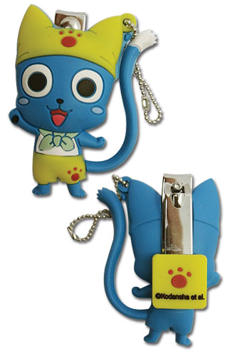 Fairy Tail - Happy Pvc Nail Clipper Keychain, an officially licensed product in our Fairy Tail Key Chains department.