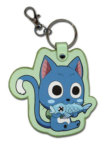 Fairy Tail - Happy Eating Fish Pu Keychain, an officially licensed product in our Fairy Tail Key Chains department.