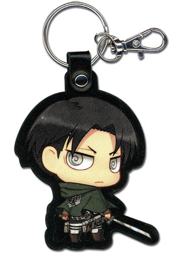 Attack On Titan - Sd Levi Pu Keychain, an officially licensed product in our Attack On Titan Key Chains department.
