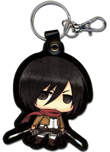 Attack On Titan - Sd Mikasa Pu Keychain, an officially licensed product in our Attack On Titan Key Chains department.