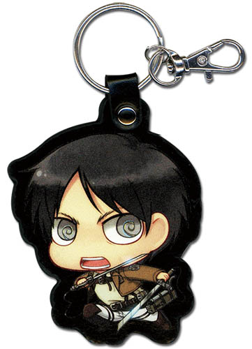 Attack On Titan - Sd Eren Pu Keychain, an officially licensed product in our Attack On Titan Key Chains department.