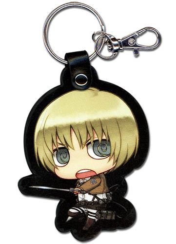 Attack On Titan - Sd Armin Pu Keychain, an officially licensed product in our Attack On Titan Key Chains department.