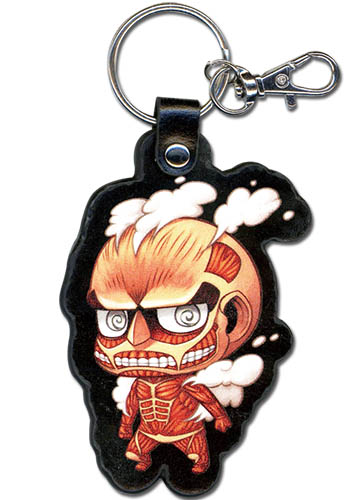 Attack On Titan - Sd Titan Pu Keychain, an officially licensed product in our Attack On Titan Key Chains department.