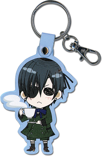 Black Butler - Sd Ciel Pu Keychain, an officially licensed product in our Black Butler Key Chains department.