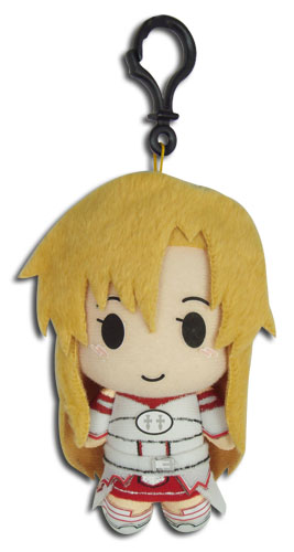 Sword Art Online - Asuna Plush Keychain 5''h officially licensed Sword Art Online Key Chains product at B.A. Toys.