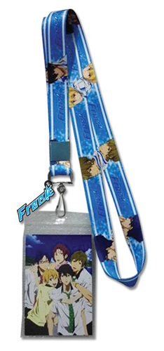 Free! - Group Splash Lanyard, an officially licensed product in our Free! Lanyard department.