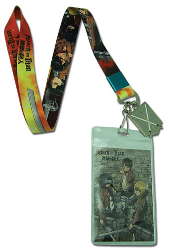 Attack On Titan - Group And Sword Lanyard, an officially licensed product in our Attack On Titan Lanyard department.