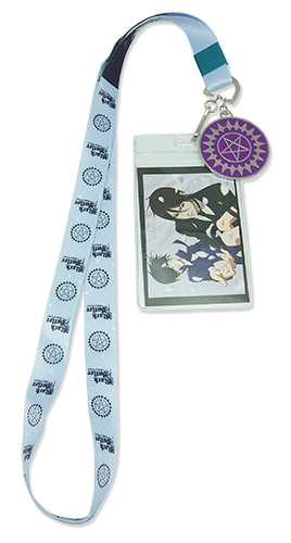 Black Butler B.O.C. - Sebastian & Ciel Petal Lanyard, an officially licensed Black Butler Book Of Circus product at B.A. Toys.