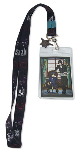 Black Butler Book Of Circus - Sebastian And Ciel Lanyard, an officially licensed Black Butler Book Of Circus product at B.A. Toys.