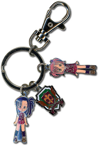 Negima Setsuna & Makie Metal Key Chain, an officially licensed product in our Negima Key Chains department.