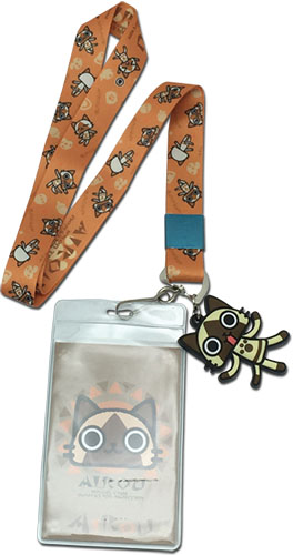 Airou From The Monster Hunter - Airou Lanyard, an officially licensed product in our Airou From The Monster Hunter Lanyard department.