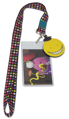 Assassination Classroom - Koro Sensei Plush Faces Lanyard, an officially licensed product in our Assassination Classroom Lanyard department.