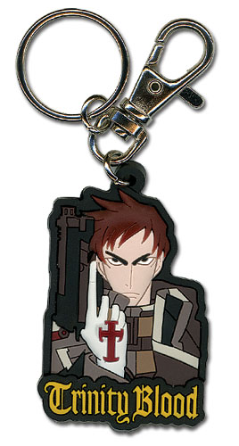Trinity Blood Tres Pvc Keychain, an officially licensed product in our Trinity Blood Key Chains department.