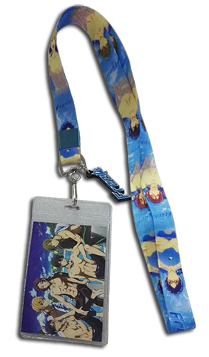 Free! - Group In Swimming Pool Lanyard, an officially licensed product in our Free! Lanyard department.