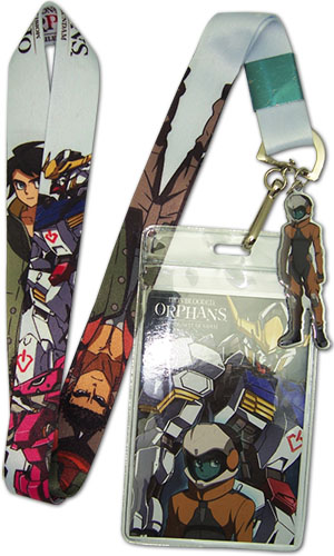 Gundam Iron-blooded Orphans - Group & Gundam Lanyard officially licensed Gundam Iron-Blooded Orphans Lanyard product at B.A. Toys.