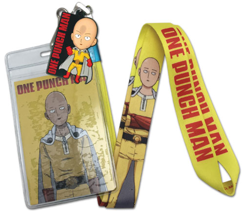 One Punch Man - Saitama Lanyard, an officially licensed One-Punch Man product at B.A. Toys.
