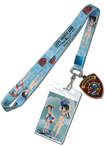 High School Fleet - Akeno & Moeka Lanyard, an officially licensed product in our High School Fleet Lanyard department.