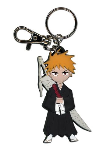 Bleach Ichigo Pvc Sd Keychain, an officially licensed product in our Bleach Key Chains department.