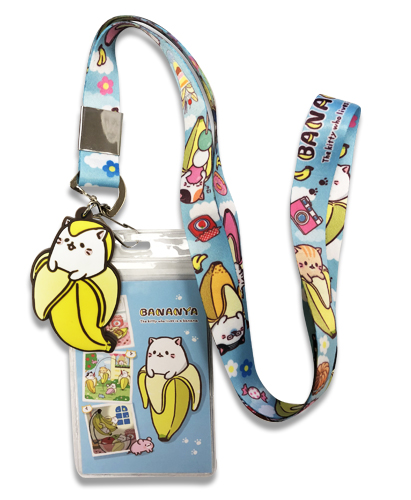 Bananya - Bananya Lanyard, an officially licensed Bananya product at B.A. Toys.