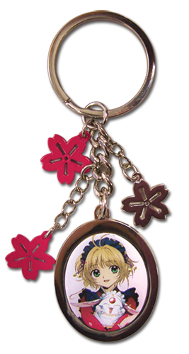 Tsubasa Sakura Flower Metal Keychain, an officially licensed product in our Tsubasa Key Chains department.