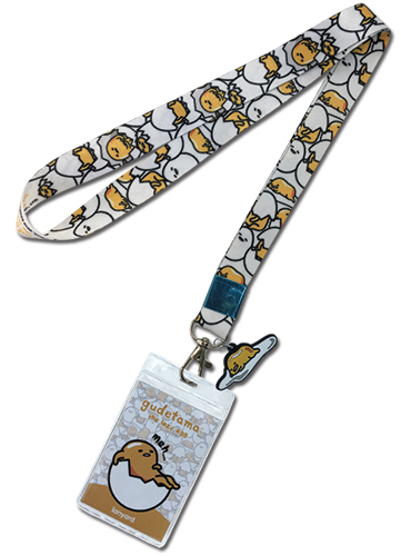 Gudetama - Pattern W/Charm Lanyard, an officially licensed product in our Gudetama Lanyard department.