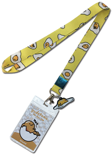 Gudetama - Meh W/Charm Lanyard, an officially licensed product in our Gudetama Lanyard department.
