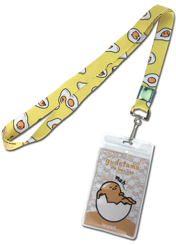 Gudetama - Meh Lanyard, an officially licensed product in our Gudetama Lanyard department.