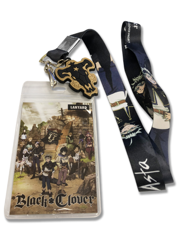 Black Clover - Asta Lanyard, an officially licensed Black Clover product at B.A. Toys.