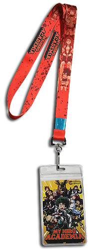 My Hero Academia - Red Monochrome Group Lanyard, an officially licensed product in our My Hero Academia Lanyard department.