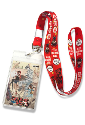 Cells At Work - Red Blood Cells Lanyard, an officially licensed product in our Cells At Work! Lanyard department.