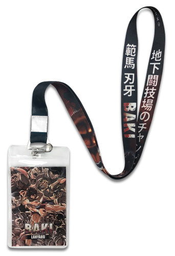 Baki - Baki Lanyard, an officially licensed Baki product at B.A. Toys.