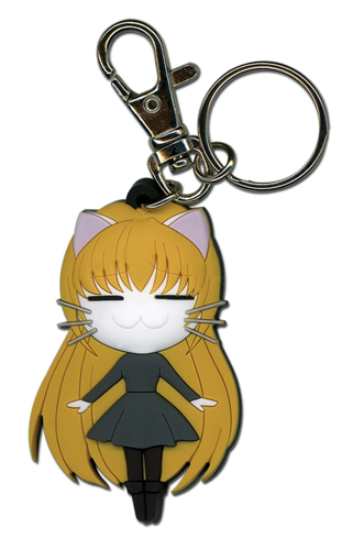 Black Cat Eve Cat Pvc Keychain, an officially licensed Black Cat Key Chain