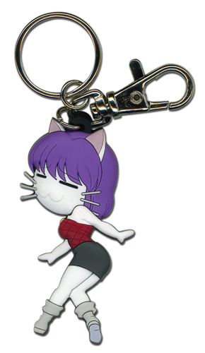 Black Cat Rinslet Cat Form Pvc Keychain, an officially licensed Black Cat Key Chain