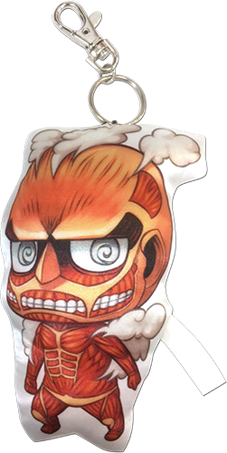 Attack On Titan - Titan Sd Plush Keychain 4.5''H, an officially licensed product in our Attack On Titan Key Chains department.