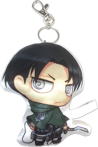 Attack On Titan - Levi Sd Plush Keychain, an officially licensed Attack On Titan product at B.A. Toys.