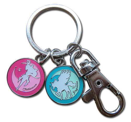 Sailor Moon Supers - Pegasus & Chibimoon Keychain, an officially licensed product in our Sailor Moon Key Chains department.