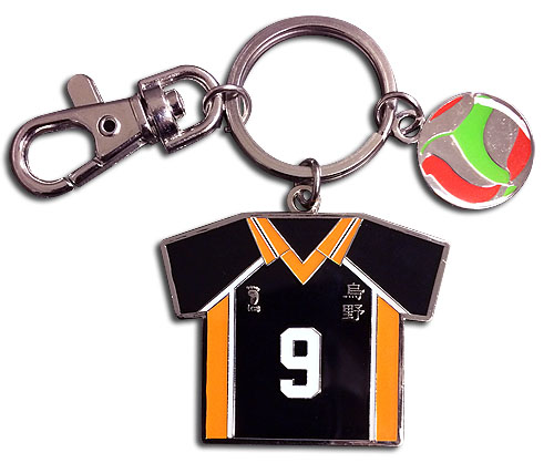 Haikyu!! - Number 9 Team Uniform Keychain, an officially licensed product in our Haikyu!! Key Chains department.