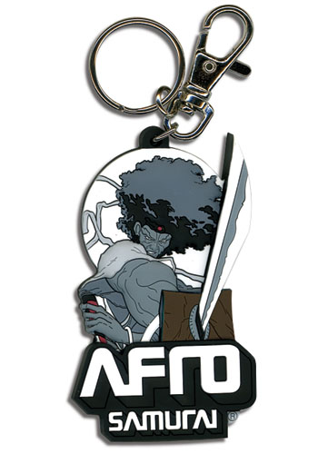 Afro Samurai Fighting Stance Pvc Keychain, an officially licensed Afro Samurai product at B.A. Toys.