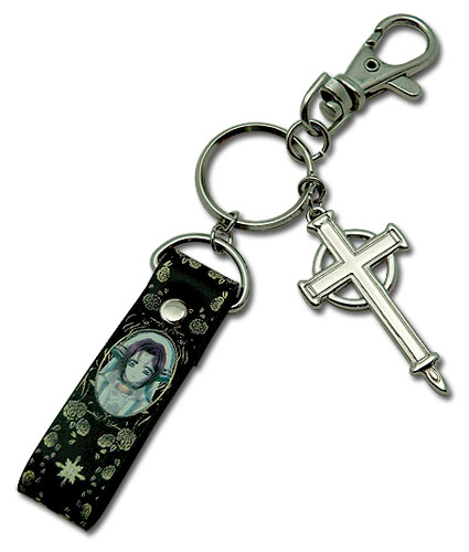 Trinity Blood Esther Metal Keychain, an officially licensed product in our Trinity Blood Key Chains department.