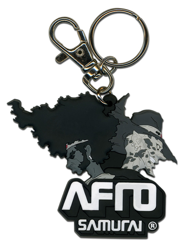Afro Samurai Afro And Justice Pvc Keychain, an officially licensed Afro Samurai product at B.A. Toys.