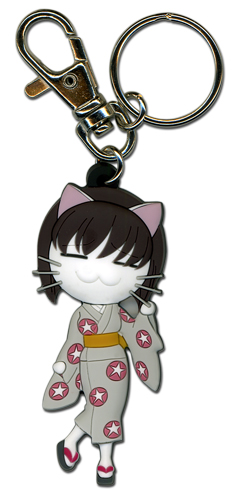 Black Cat Saya Cat Form Pvc Keychain, an officially licensed Black Cat Key Chain
