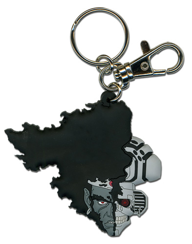Afro Samurai Afro Droid Half Face Pvc Keychain, an officially licensed Afro Samurai Key Chain
