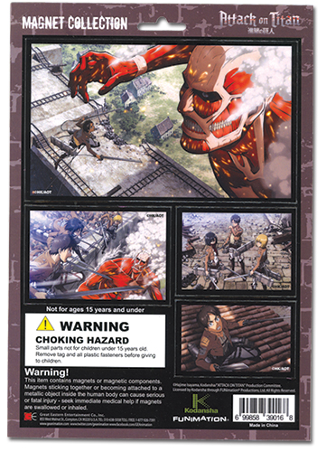 Attack On Titan - Magnet Collection, an officially licensed Attack On Titan product at B.A. Toys.