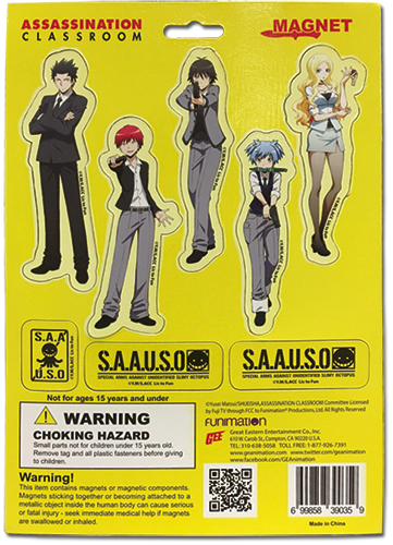 Assassination Classroom - Magnet Collection 2, an officially licensed Assassination Classroom product at B.A. Toys.