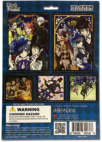 Black Butler B.O.C. - Magnet Collection, an officially licensed product in our Black Butler Book Of Circus Magnet department.