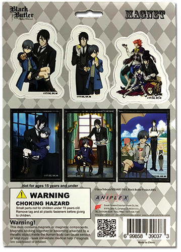Black Butler B.O.C. - Magnet Collection 2 officially licensed Black Butler Book Of Circus Magnet product at B.A. Toys.
