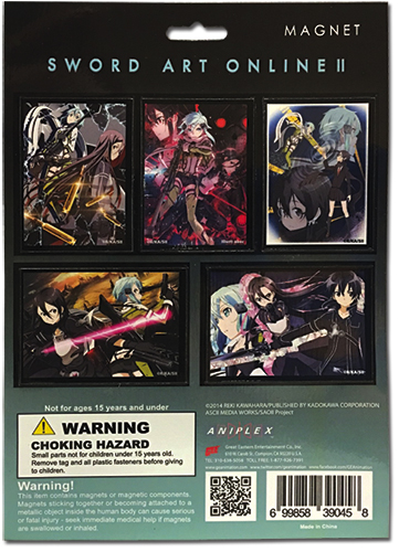 Sword Art Online Ii - Magnet Collection, an officially licensed product in our Sword Art Online Magnet department.